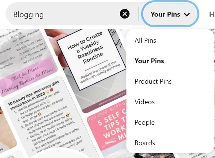 How to find Pinterest group board