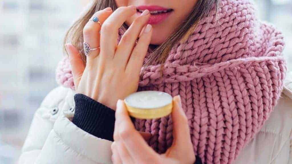 Treat dry cuticles with lip balm