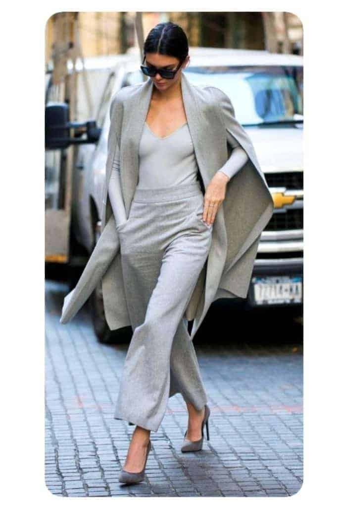 wear grey to look classy in outfit