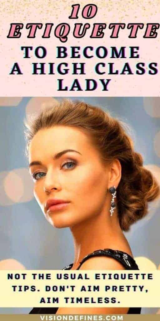 10 etiquette to become a high class lady