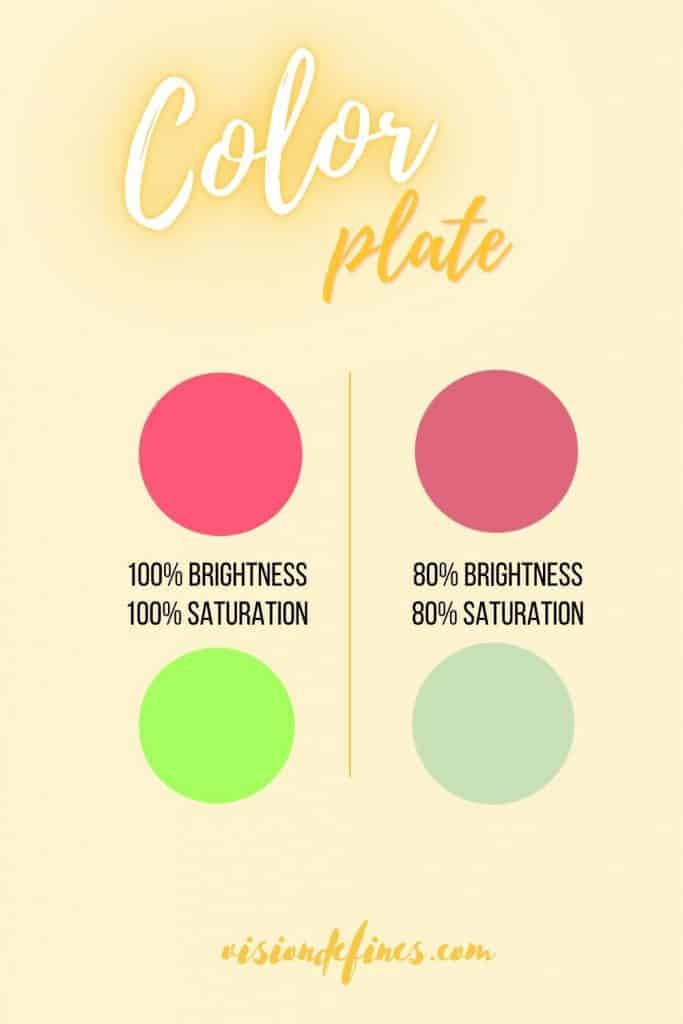 Pick a low saturation color - how to glow up in a month 30 days challenge