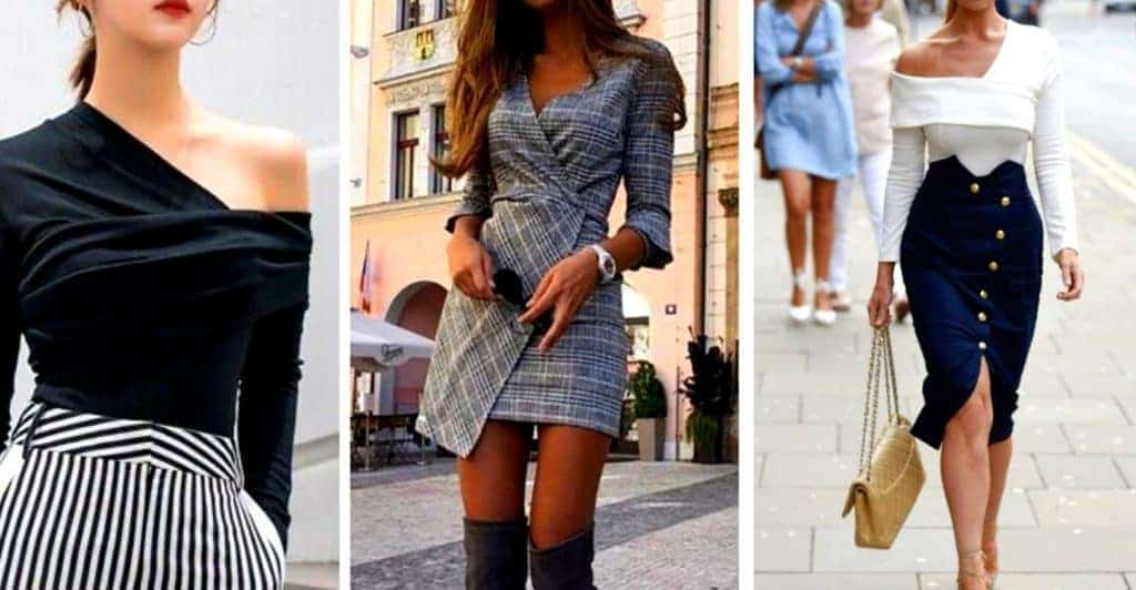 Wear asymmetrical clothing to look more classy and expensive