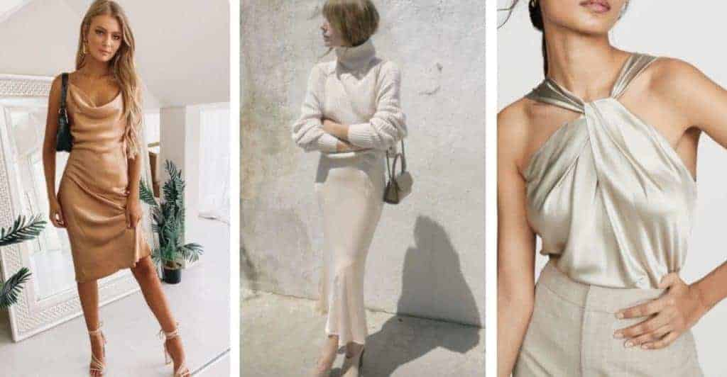wear satin and silk to level up your outfit - how to look expensive on a budget